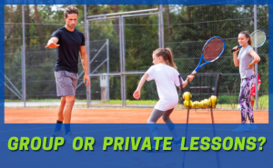 private or group lessons for kids junior tennis