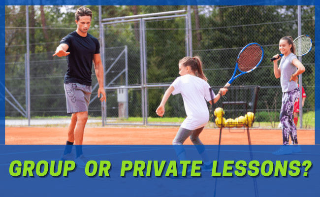Read more about the article Are Kids Tennis Group Lessons or Private Lessons Better for My Child?